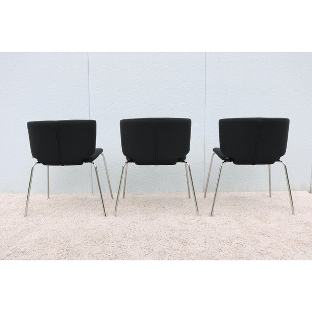 Modern Spain Mark Krusin for Coalesse Wrapp Stackable Black Guest Chair For Sale - Image 9 of 13