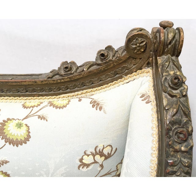Antique French Wingback Chair - Image 8 of 9