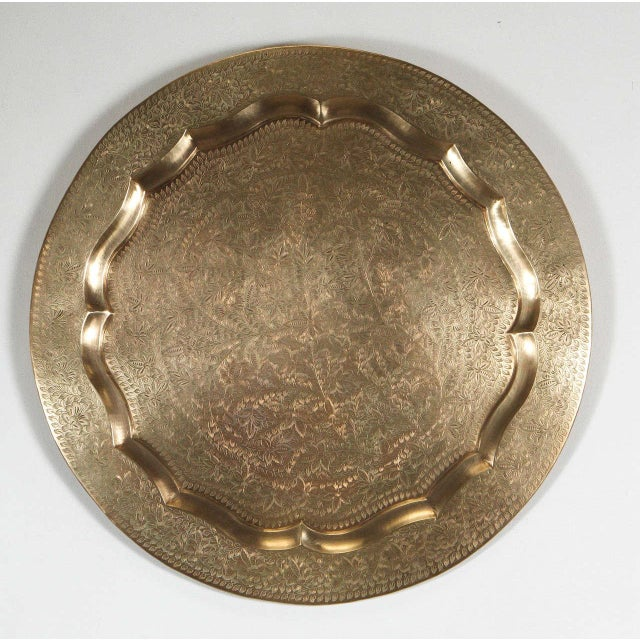 Anglo-Indian Round Brass Tray Wall Hanging For Sale - Image 10 of 10