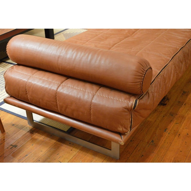 Mid Century Italian Modernist Faux Leather Daybed For Sale - Image 9 of 13