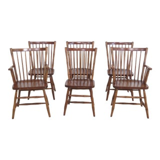 Set of 6 Stickley Windsor Style Dining Room Chairs For Sale