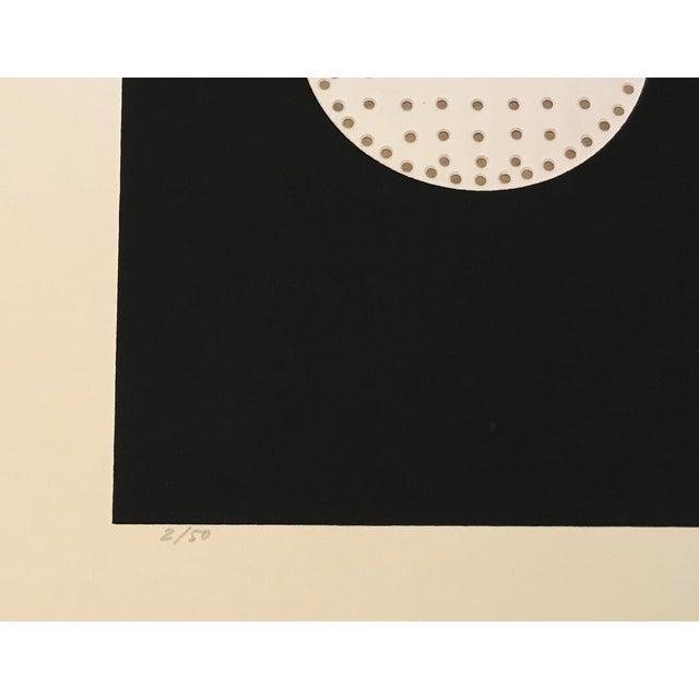 1971 Juan Martinez Composition #2 Hand Signed Silkscreen Print For Sale - Image 4 of 6