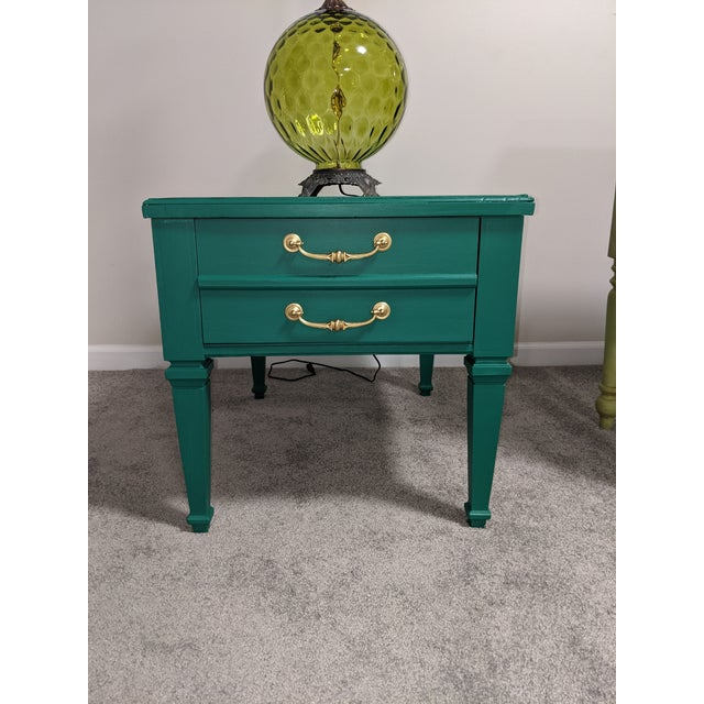 Mid Century Lane Coffee Table/Night Stand For Sale - Image 9 of 11