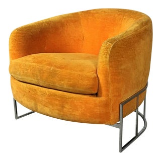 1970s Mid-Century Modern Milo Baughman Living Room Tub Chair For Sale