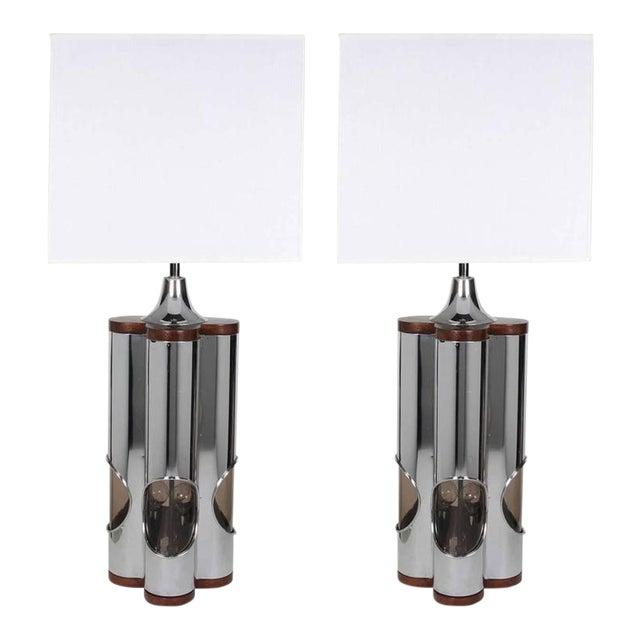 Pair of Sculptural Hollywood Regency Lamps by Laurel For Sale
