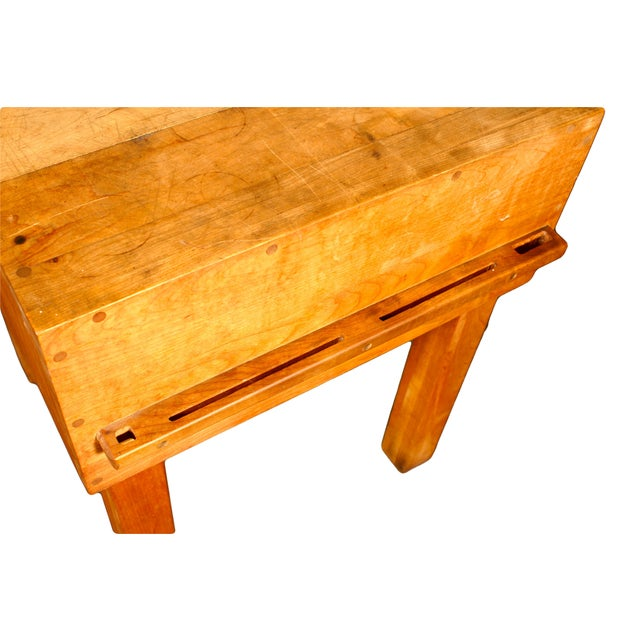 Butcher Block Table with Knife Rack - Image 5 of 5