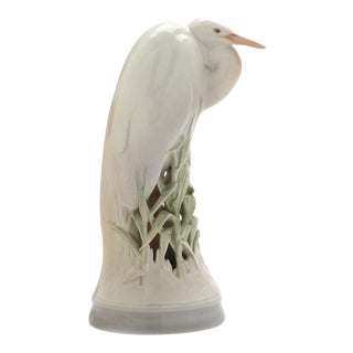 Porcelain Heron by Theodor Madsen for Royal Copenhagen