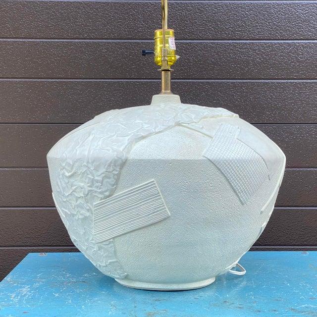 Bon Art Postmodern Plaster Table Lamp For Sale - Image 4 of 13