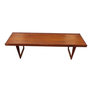 1960's Danish Modern Peter Lovig Nielsen Dansk Teak Coffee Table For Sale