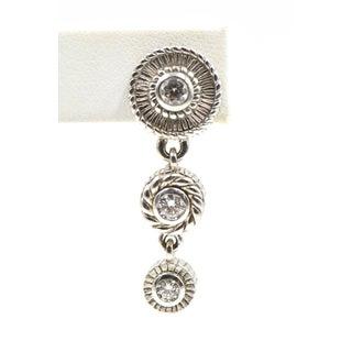 Sterling Silver & Cz Drop Dangling Earrings Preview