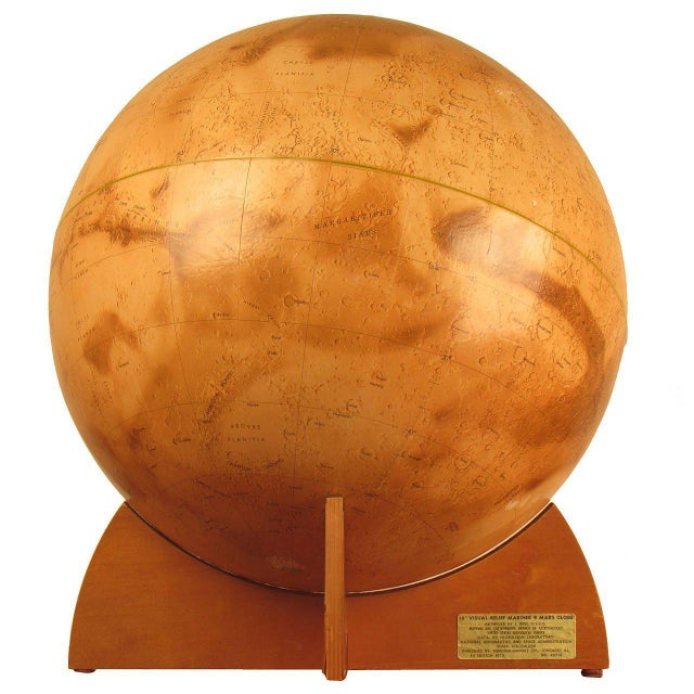 1973 Denoyer-Geppert Rare First Edition Mariner 9 Mars Globe For Sale - Image 9 of 9