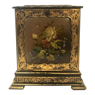 Rare Antique English Victorian Papier-Mâché Jewel Case Box, Circa 1850-1860. For Sale