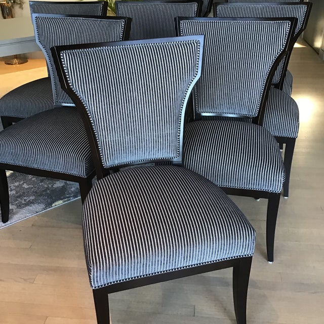 Designmaster Furniture for Hickory Co. Dining Chairs - Set of 8 For Sale - Image 10 of 13