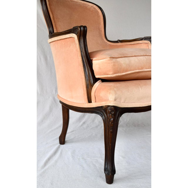 Pair of Louis XV Carved Walnut Bergere Chairs For Sale - Image 10 of 12