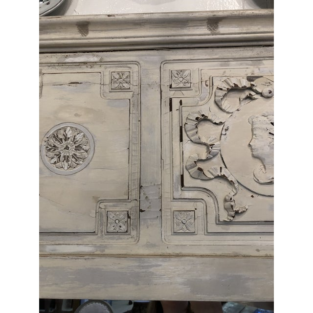 Antique French Trumeau Mirror For Sale In Atlanta - Image 6 of 13