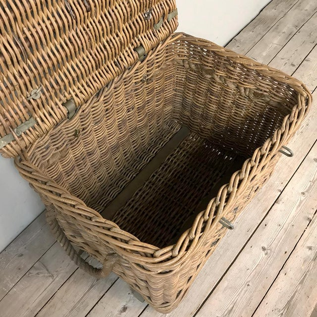 Wicker Antique Wicker Basket For Sale - Image 7 of 13