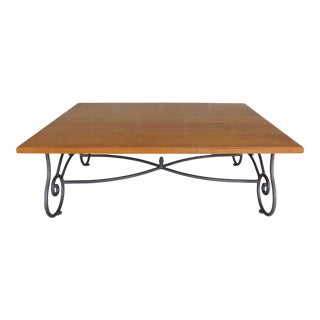 Ethan Allen Legacy Collection Wrought Iron Base Coffee / Cocktail Table 13-8320 For Sale