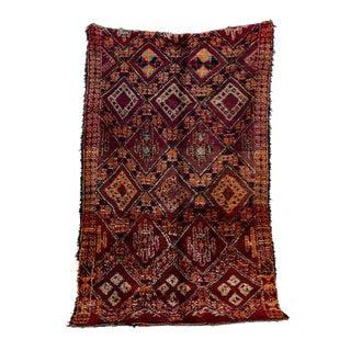 """Beni M'Guild Vintage Moroccan Rug, 6'3"""" X 9'2"""" For Sale"""