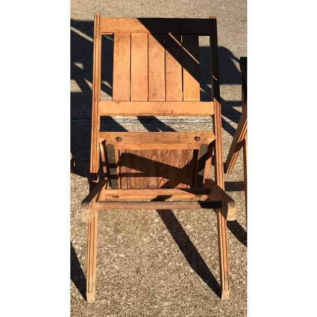 Vintage Wooden Folding Chairs - Set of Six For Sale - Image 9 of 11 - Vintage Wooden Folding Chairs - Set Of Six Chairish