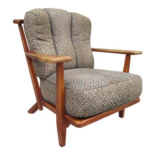 1940s Vintage Cushman Colonial Herman DeVries Maple Paddle Arm Lounge Chair For Sale