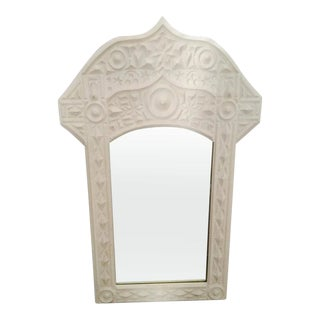 Vintage Moroccan White Mirror For Sale