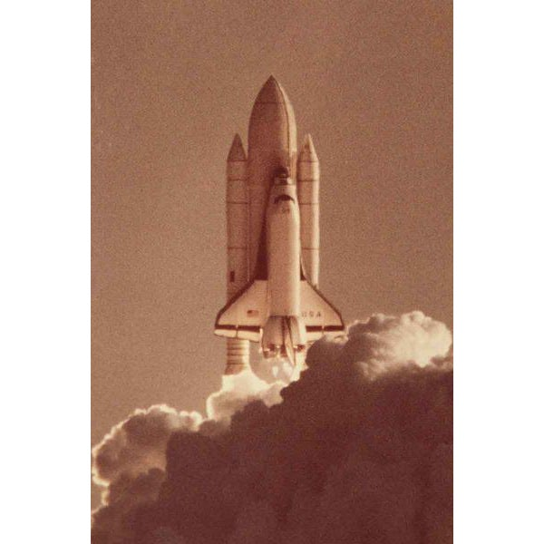 Mid-Century Modern Vintage Space Ship Launch Photograph For Sale - Image 3 of 4