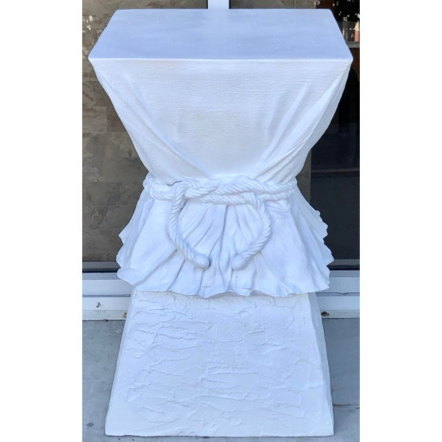 White Large John Dickinson Style Pedestal For Sale - Image 8 of 8