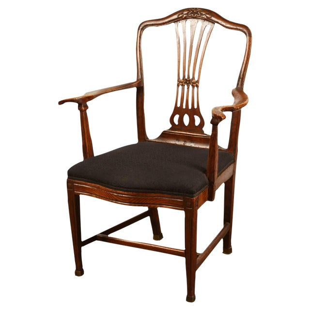 Danish Elm Armchair, circa 1780 For Sale