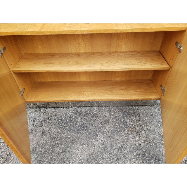 1970s Milo Baughman Burl and Chrome Credenza For Sale - Image 9 of 12