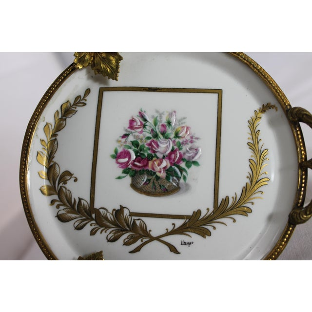 Antique Limoge France Painted Bronze Dishes - A Pair - Image 4 of 11