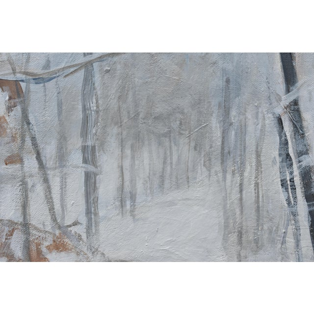 """White Contemporary Snowscape Painting, """"Snowy Hillside"""", by Stephen Remick For Sale - Image 8 of 13"""