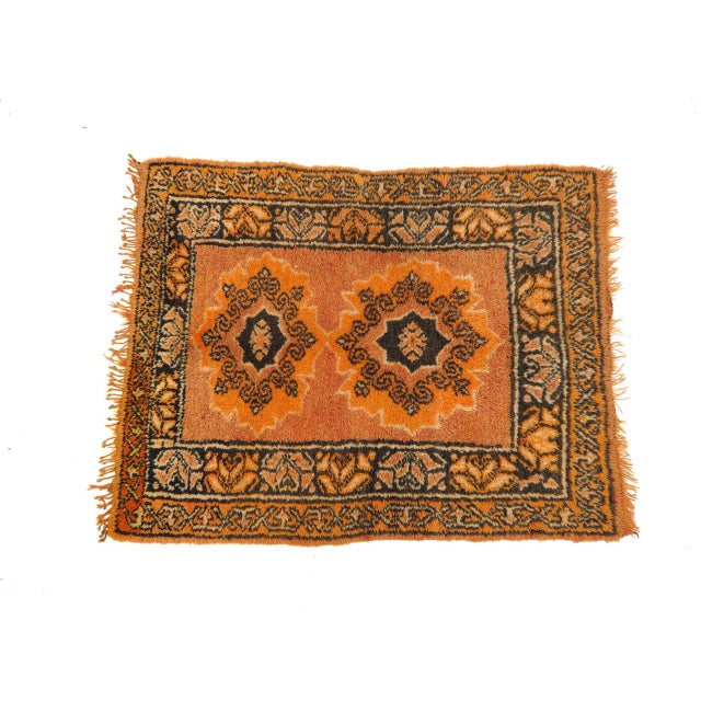 Textile Vintage Moroccan Rug - 1′2″ × 3′4″ For Sale - Image 7 of 8