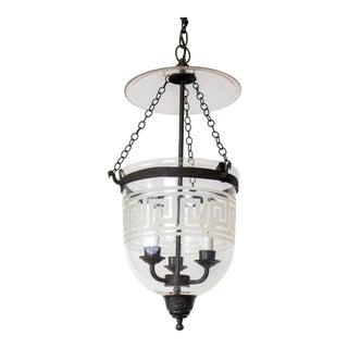 Late 20th Century Greek Key Bell Jar For Sale