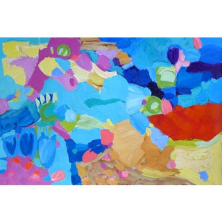 """Abstract Painting on Paper 