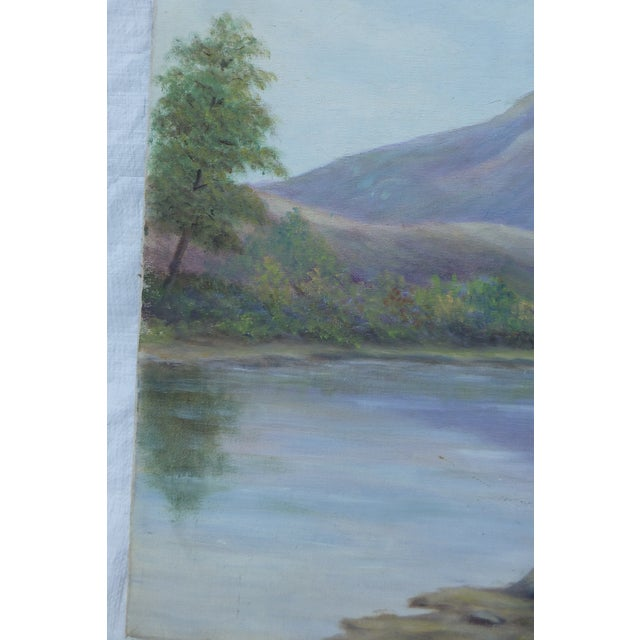 Mid-Century Modern Landscape Painting by M.F. Musgrave - Image 2 of 5