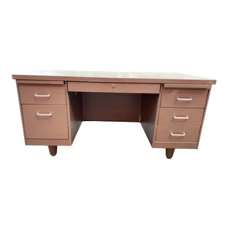 1970s Olga Manufacturing Co Steel Executive Desk For Sale