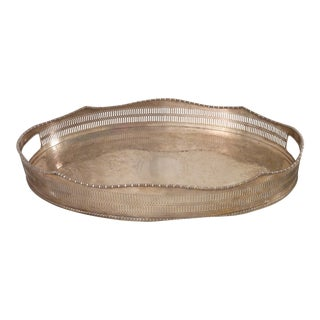 Vintage Sheffield Silvered Tray For Sale