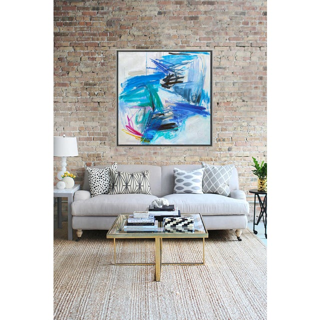 "2010s Trixie Pitts's ""Chasing Coral"" Large Abstract Oil Painting For Sale - Image 5 of 10"