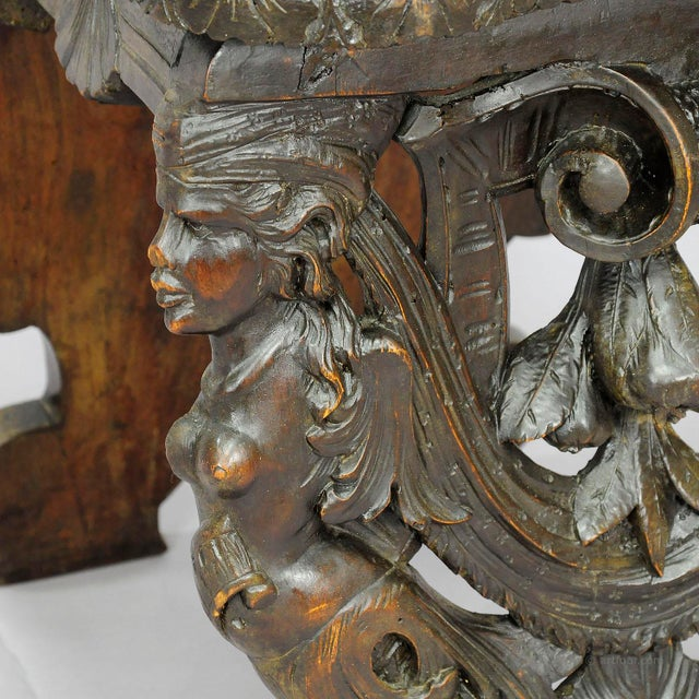 A Great Renaissance Style Italian Sgabello Chair Ca. 1860 For Sale - Image 12 of 13