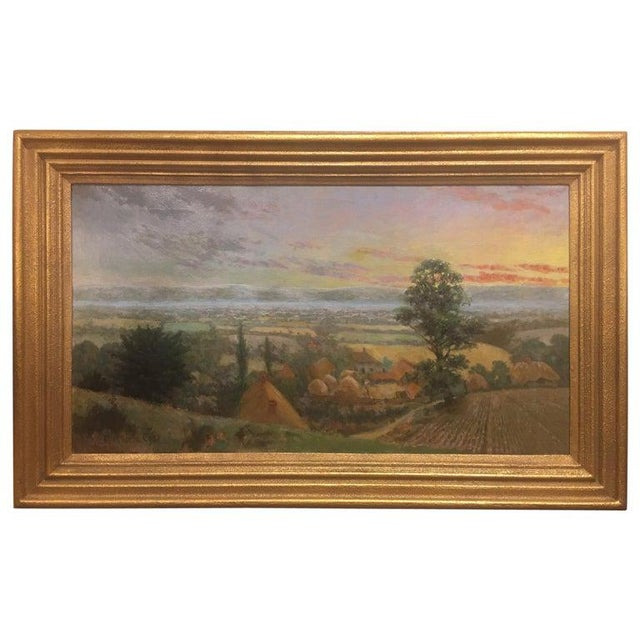 """British Oil on Canvas """"Valley of the Rothe"""" by F. M. de la Coze, 20th Century For Sale - Image 10 of 10"""