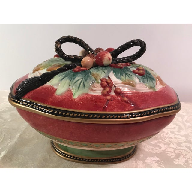 Fitz & Floyd Holiday Covered Serving Dish - Image 2 of 11
