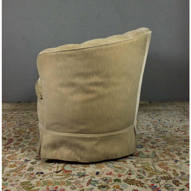 Small Tufted Sofa With Loose Seat Cushion For Sale In New York - Image 6 of 10