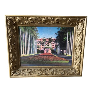 """Boca Raton Hotel & Resort"" Print in Antique Frame For Sale"