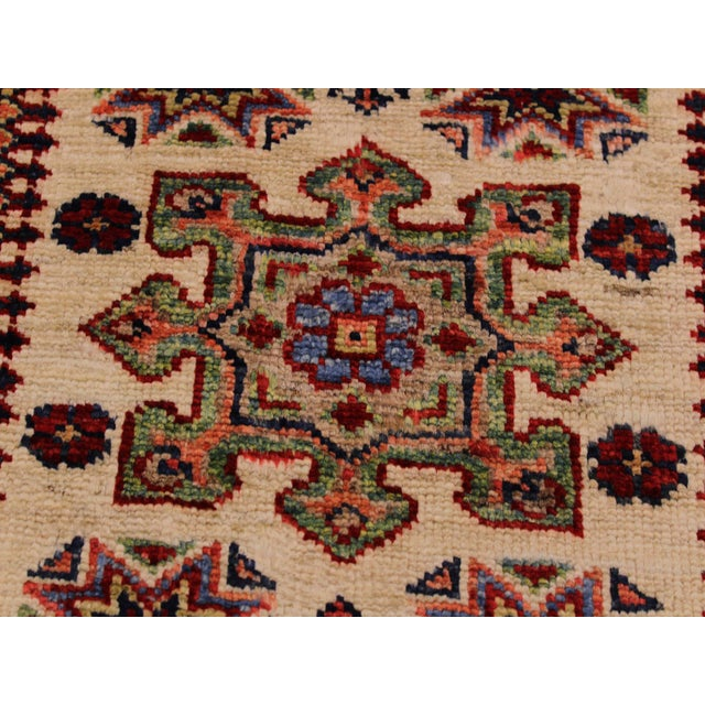 Textile Persian Geraldo Ivory/Red Hand-Knotted Wool Rug - 2'0 X 2'11 For Sale - Image 7 of 8