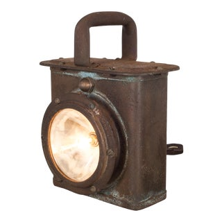 World War Era u.s. Navy Ship Lantern Lamp C.1940 For Sale