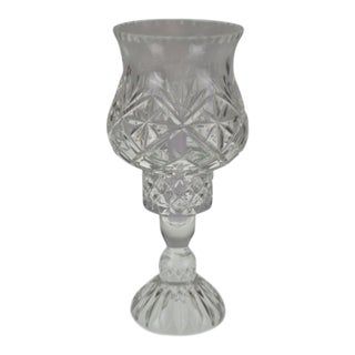 Vintage Polish Hand Cut Leaded Crystal Candle Holder For Sale