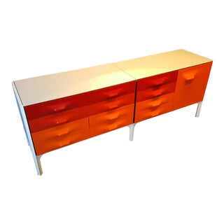 Space Age Raymond Loewy Df-2000 Credenza for Doubinsky Frères, France, Rare For Sale