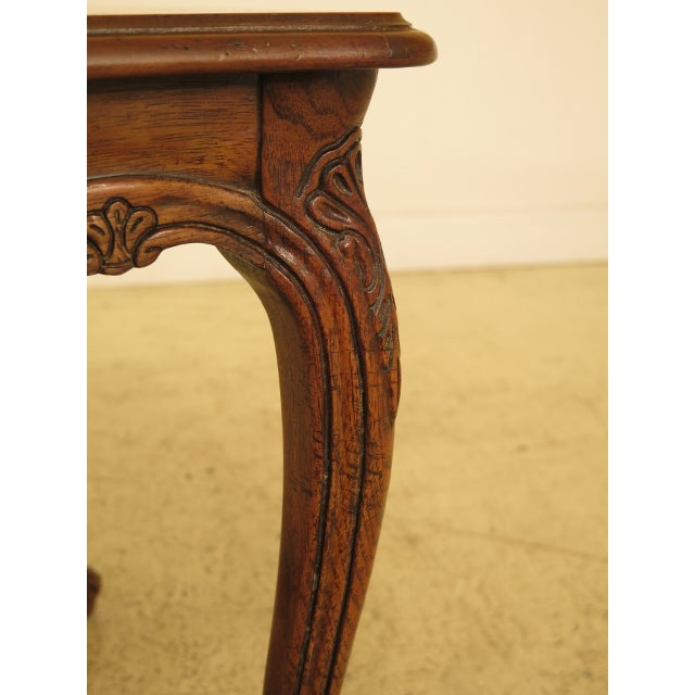 Drexel Heritage Drexel - Heritage French Style Walnut Occasional Table For Sale - Image 4 of 8
