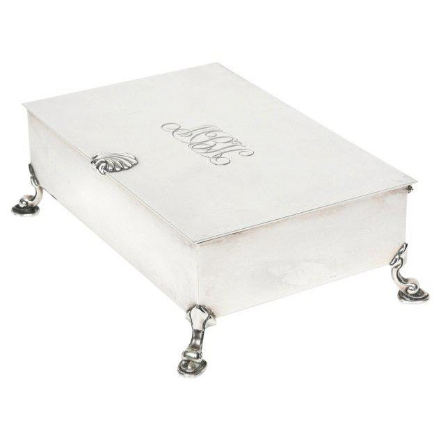 Mid-Century Modern Tiffany Sterling Shell & Dolphin Box For Sale - Image 10 of 10