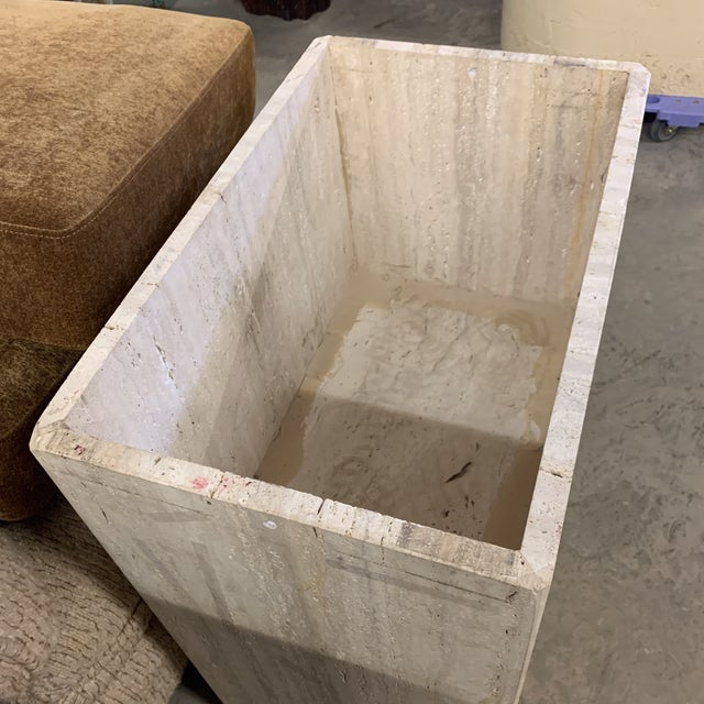 Italian Travertine Marble Dining Table For Sale - Image 11 of 13